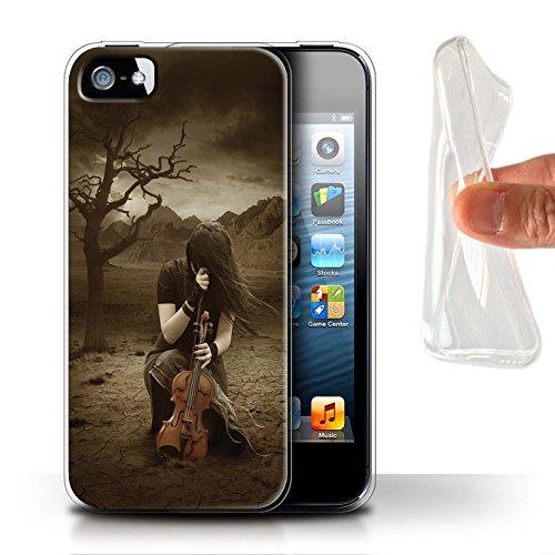 Officiel Elena Dudina Coque / Etui Gel TPU pour Apple iPhone 5/5S / Abandonné Design / Réconfort Musique Collection Abandonné