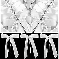 Lot de 50 Nœuds Papillon Blancs pour Voiture de Mariage | Rubans Festifs pour Décoration salle, tables, chaises de fêtes STAR-LINE®