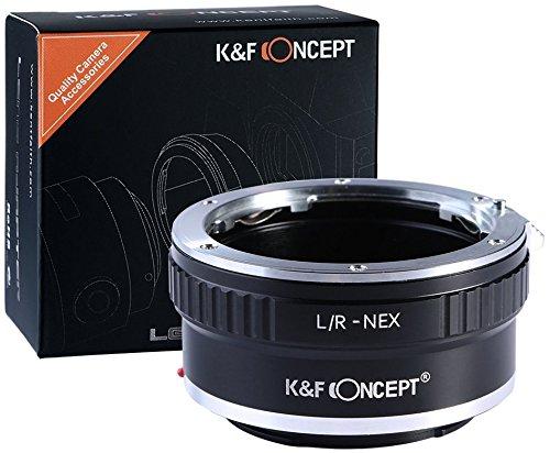 K&F Concept LR-NEX Objektivadapter kompatibel mit Sony NEX Alpha E-Mount Adapter   Adapterring Kamera Ring Objektiv Leica R L/R L Leica-R LR Kamera-mount-adapter