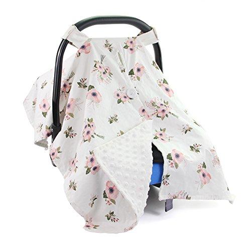 DrCosy Auto Set Warenkorb Abdeckung Ideales Geburts Geschenk Dusche Mama Baumwolle Stillen Abdeckung für Säuglinge Neugeborene (Neugeborenen Sitzbezüge Auto)