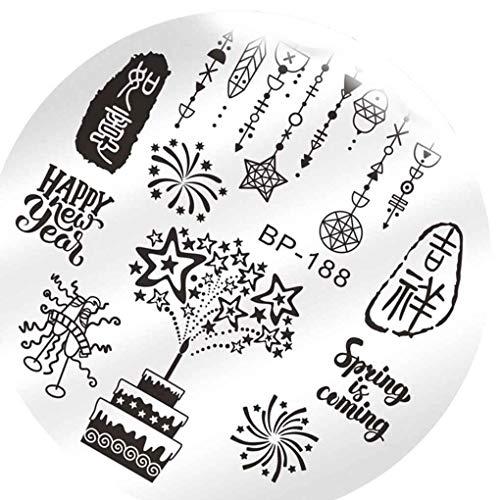 Lidahaotin Blumen-Frauen Polish Stamping Nägel Vorlagen Sexy Schönheit Bild Nail Art Stempel Platten Nail Stencils # 9