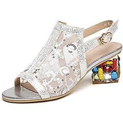 Damen Pumps Slingback Stiletto high-heel Sandalen