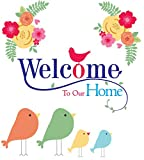 #6: 100yellow Welcome to Our Home Door/Wall Sticker (PVC Vinyl, 18 x 20 Inch)