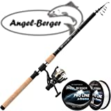 Angel Berger Tele Angelset Rute Rolle mit Schnur (Allround 3,00m / 30-75g)