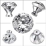 Lvcky Türknauf/Schrankgriff/Schubladengriff/Glas-Knöpfe, Diamantform, 30 mm, 8 Stück