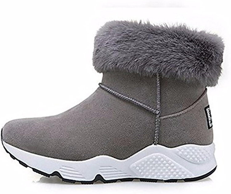 ZHUDJ Chaussures pour D'automne Femmes Bottes De Neige D'automne pour Talon Plat Bottes Bout Rond pour Un Joint De Séparation...B0784N1V1KParent 406c4f