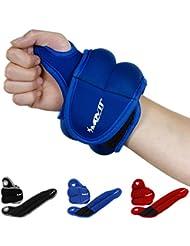 MOVIT® 2er Set Neopren Gewichtsmanschetten mit Daumenschlaufen, 4 Varianten 2x 0,5kg - 2x 2,0kg, 3 Farben