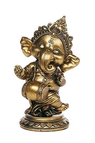 Ganesha der Hindu-Gottheit Elefant Dancing Spielen Instrument Ganesha Figur Skulptur 15,2cm H - Sitar-gitarre
