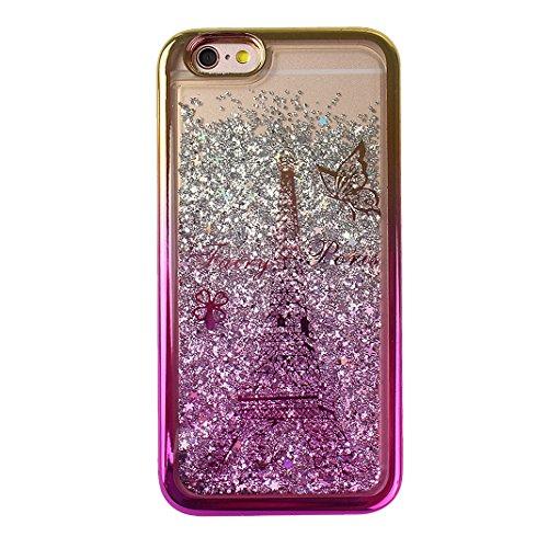 Housse iPhone 6 6S Coque Liquide Sables Mouvants, Moon mood® Luxury Pente Gradient Case Fashion Étui pour iPhone 6 Silicone Coque de Protecteur iPhone 6S (4.7 pouces) Transparent Crystal Clair Souple  Style -3