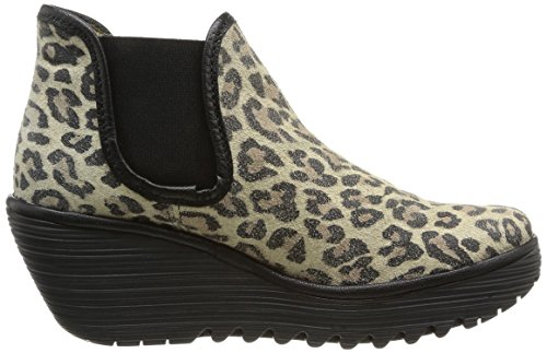 Fly London - Yat, Stivali da Donna Multicolore (Leopard/Black 005)