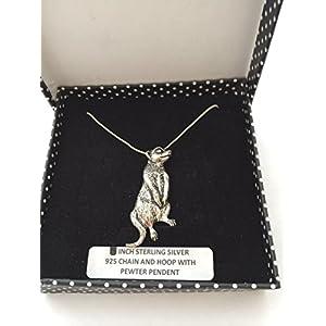 A61 Erdmännchen Anhänger Echt 925 sterling Silber Halskette Kette prideindetails 45.72 cm, handgefertigt, mit Geschenk-box