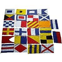 Brass Blessing Señal Marítima Internacional Banderas/Bandera–Set DE 26Total Bandera–-100% Algodón–Marítimo Náutico (5042)