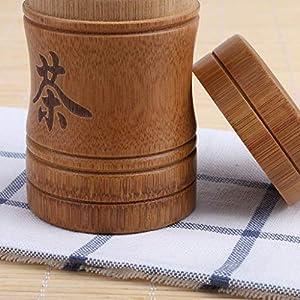 Luckyrainbow Théière, boîte à thé, boîte à thé, boîte à thé portable en bambou, ensemble de théières de voyage en plein air, boîtes de rangement scellées