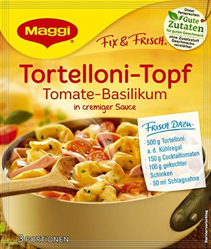 Maggi Fix und frisch für Tortelloni-Topf Tomate-Basilikum, 10er Pack (10 x 36 g)
