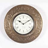 Purpledip Wall Clock Golden Times: Antiq...