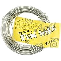 Divertente filo rivestito di plastica 24 calibro 15 piedi/Pkg-Icy Silver