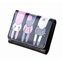 Yistu Women Purse,Lady Women Clutch Long Purse PU Leather Wallet Card Holder Handbag Bags (Black2)