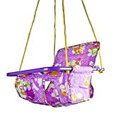 #9: Baybee Baby Amul Hanging Hammock - Swing Chair with Toys & Safety Belt - Mixed Print