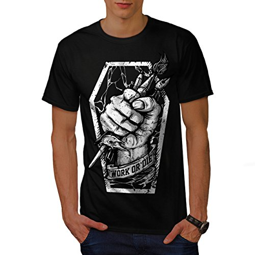 Arbeit Oder Sterben Maler Herausforderung Herren M T-shirt | Wellcoda Rampe Trampolin