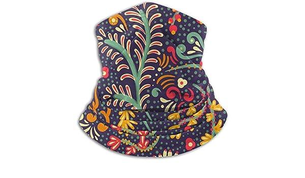 D/écorations pour visage pour adulte Couvre-visage confortable et coupe-vent Motif mandala rond avec fleurs et amour Impression /ésot/érique