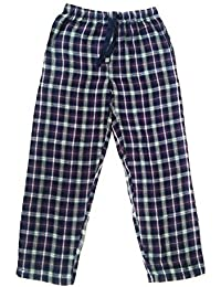Twist Men's Purple And Blue And White Checked Cotton Pyjama Sleepwear Night Wear With Contrast & Free Shipping
