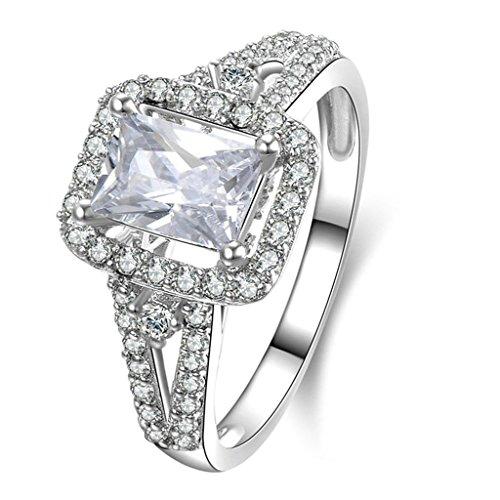 Daesar Silberring Damen Ring Silber Ehering für Damen Benutzerdefinierte Ring Platz Zikonia Ring Größe:65 (Benutzerdefinierte Kostüme Halo)
