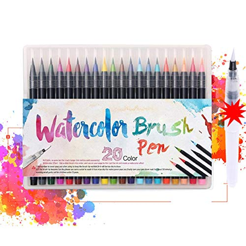 Ballylelly-20 Farb-Comics Malen Color Line Marker Aquarellpinsel Malzubehör