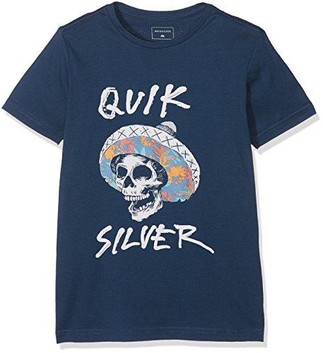 Quiksilver Jungen SS Tee Yth Classic El Bronco-T-Shirt, Dark Denim, S/10
