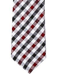 Blacksmith Men's Necktie (Blcheckstie1_Blue_Free Size)