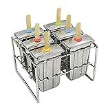 DIY Stainless Steelform,Edelstahl Popsicle Form mit Stick Holder Eiscreme Form von 6,Edelstahl in Lebensmittelqualität 304 schützt Ihre Sicherheit