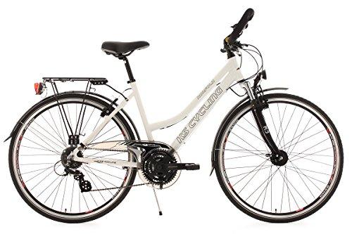 KS CYCLING NORFOLK 152T - BICICLETA PARA MUJER  COLOR BLANCO  RUEDAS 28  CUADRO 53 CM