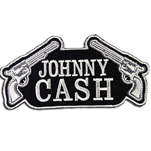 Johnny Cash-patches (Johnny Cash Patch Band Embroidered Iron On Patches by Music Patches)