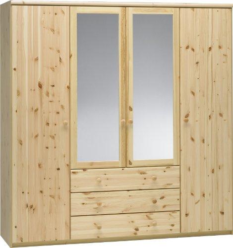 Preisvergleich Produktbild Steens 29911219 Kleiderschrank Axel 200 x 193 x 62 cm Kiefer teilmassiv,  natur lackiert