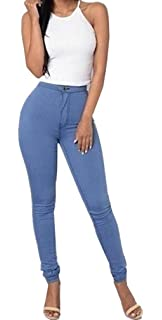 064d9e8125be LooBoo Jeggings Leggings Femmes Stretch Skinny Taille Haute Crayon Pantalon  Collants Push Up Denim Pantalons Jeans