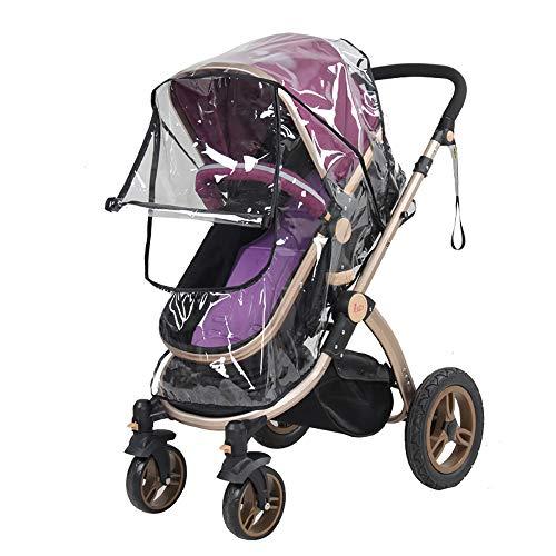 Hothuimin - Funda impermeable para cochecito de bebé, 3 en 1, funda para asiento de coche para bebé, protector contra la intemperie, transparente, tamaño universal