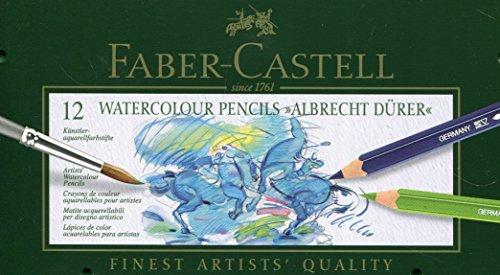 Faber-Castell 117512 - Aquarellstifte ABLRECHT DÜRER, 12er Metalletui