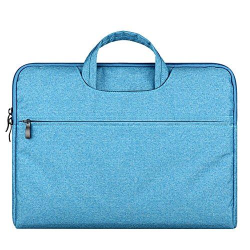 Laptoptasche, 15.6 Zoll Ultra Slim tragbares Wasserdicht Stoßfest Notebook Tasche Schutztasche Sleeve hülle für Apple MacBook Pro/Surface Laptop/Acer/ASUS/Dell/Lenovo/HP,Blau