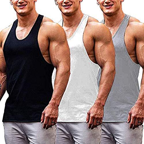 Burlady Tanktop Herren achselshirts unterhemd T-Shirts Sport Freizeit Fitness Tops
