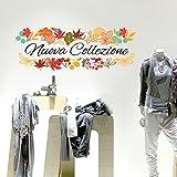 wall art UVNC0017 Nuova collezione inverno adesivi per vetrine negozi promozioni stickers, adesivi Adesivi Murali - Misura 40x15 cm