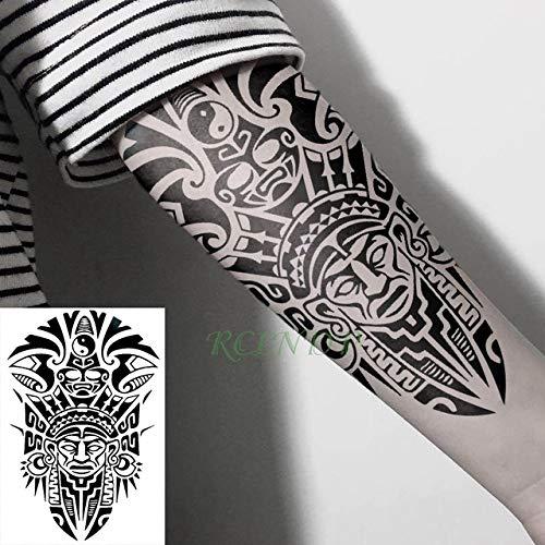 tzxdbh 2pCS-wasserdicht temporäre Tätowierung Aufkleber Herz Pistole Brief Tattoo Tattoo große Tattoo Arm RIST Mädchen weiblich männlich temporäre Tätowierung 2pCS- -