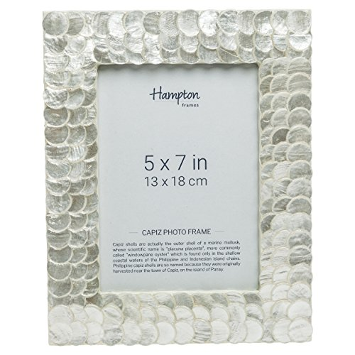Hampton Frames PEN57W Penny Capiz Shell 5 x 7 Pulgadas