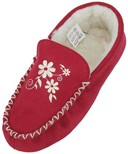 Slumberz, Pantofole donna Rosso (Claret)