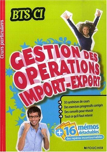 Gestion des opérations d'import-export par François Duphil