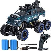 Markc De coches de juguete de control remoto SUV de gran tamaño Otoño-resistentes eléctrico de seis ruedas de los niños coche de manejo del modelo inalámbrico de alta velocidad a los pies grandes esca