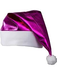 Myrtle Beach Berretto lucido da Babbo Natale con inserti e pompon in  pelliccia bianca sintetica ( 61ff36cedb4e