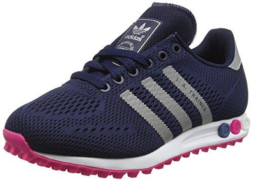 adidas La Trainer Em, Chaussures de Running Compétition Femme Bleu (Collegiate Navy/Silver Metallic/Shock Pink)