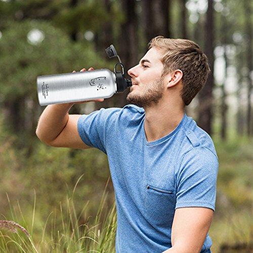 SWIG SAVVY Bpa-Frei Lecksicher Edelstahl Breiter Mund Isolierte Wasserflasche Mit austauschbaren Verschlußn Edelstahl
