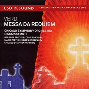Verdi: Messa da Requiem Hybrid SACD - DSD Edition by Chicago Symphony Orchestra, Riccardo Muti, Chicago Symphony Chorus, Barbara Frit (2010) Audio CD