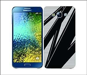Galaxy Printed 2664 Ray Stripes MidBlack Hard Cover for Samsung A3