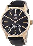 Esprit Herren-Armbanduhr XL Moody Rosegold Black Analog Quarz Leder
